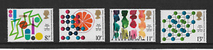 MINT 1977 GB CHEMISTRY ROYAL INSTITUTE  STAMP SET OF 4