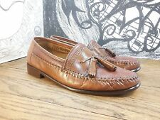 """Men's Brass Boot """"Walking Gloves"""" Brown Leather Tassel Loafers 8M.. Must See!"""