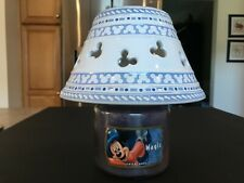 Disney Gourmet Mickey Mouse Ceramic Candle Lamp Shade Topper Euc