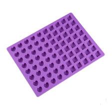 80pcs Cavity Silicone Gummy Heart Chocolate Mold Candy Maker Ice Tray Jelly Mold