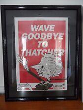 Cartel de estudiantes Unión política Thatcher trabajo Tory conservador Scarfe scargil