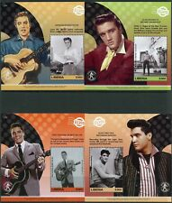 LIBERIA  2017 ELVIS PRESLEY SET OF FOUR SOUVENIR SHEETS MINT NEVE  HINGED
