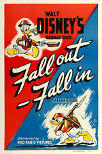 """Donald Duck in Fall Out-Fall In  Movie Poster Replica 13x19"""" Photo Print"""