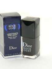 Dior Vernis Long-Wearing Nail Lacquer Rock Coat Smoky Black Top Coat New In Box