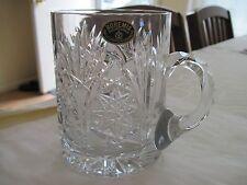 Bohemia Hand Cut Crystal  Glass/ Tankard