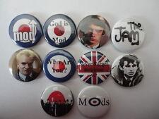 Mod Music Set of 10x 25mm Button Pin Lapel Badges. New