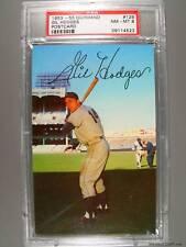 1953-55 Dormand #129 GIL HODGES Postcard PSA NM-MT 8