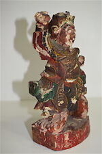 Personnage en bois sculpté chine chinese chinois china XIX  19th