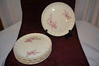 WS George Bolero Peach Blossom Set of 5 Dessert Plates Gold Trim Antique Gold