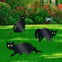 Cat Shape Bird Scarer Garden Deterrent Rodents Protection Metal Pest Control