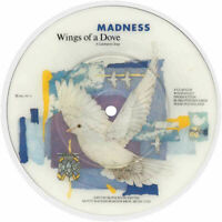"""EX/EX Madness Wings Of A Dove 7"""" VINYL 45 Picture Pic Disc Ska"""
