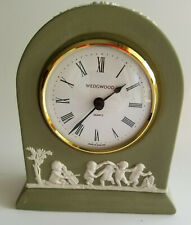 WEDGWOOD Green JasperWare CLOCK , works, great condition, rare