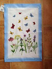McCaw Allen Linen Union tea towel - Herbs & Butterflies