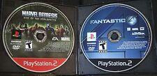 Marvel Nemesis & Fantastic 4  - PlayStation 2 Lot (PS2)