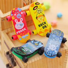 Skateboard Shaped Rubber Pencil Eraser Funny Kid Educational Prize Toy EB