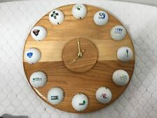 Vintage Unique Golf Ball Wall Clock Hand Made By Ken Lee