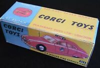 Corgi 213 2.4 Jag Fire Service Car Empty Repro Box