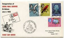 ST HELENA 1965 LOCAL MAIL SERVICE FDC ILLUSTRATED + NEW GROUND POSTMARKS