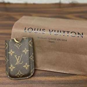 Authentic Louis Vuitton Phone Case For Apple Iphone Brown Monogram