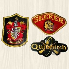 Harry Potter Patches Set Quidditch Seeker Gryffindor Hogwarts Houses Embroidered