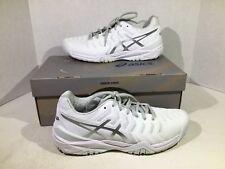 Asics GEL-RESOLUTION 7 Women's Size 9 White/Silver Tennis Athletics Shoes ZV-175