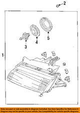MAZDA OEM 97-98 Protege-Headlight-Head light Headlamp Assy Left BG1N51040DP1