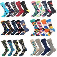 Men Women Combed Alien Striped Cotton Socks Animal Floral Novelty Long Stockings