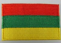 Litauen Aufnäher gestickt,Flagge Fahne,Patch,Aufbügler,6,5cm,neu