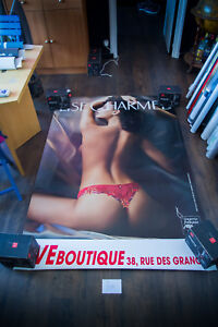 LISE CHARMEL 40 4x6 ft Bus Shelter Original Vintage Sexy Advertising Poster