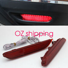 2 Red Len LED Rear Bumper Brake Reflector Light For Nissan X-trail T32 2014~2017