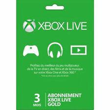 Microsoft Xbox Live Carte d'Abonnement pour Xbox 360 - 3 Mois (52K-00010)