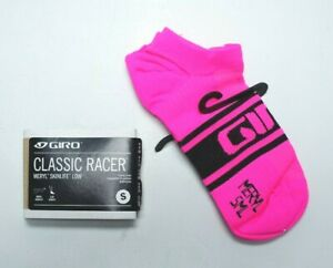 New Giro Classic Racer Unisex Size Small 36-39 Bright Pink Cycling Socks 7085755
