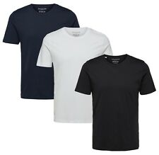 Selected Homme Mens Crew Neck Casual Slim Fit T-shirt Plain Cotton Tee Top