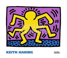KH08 by Keith Haring Art Print Yellow Figure Dance Dancing Pop Poster 24x28