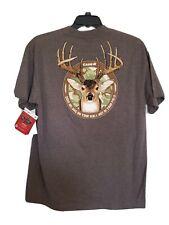 Mens Grey Case IH Logo Deer Tee Short Sleeve PolyCotton Size Large