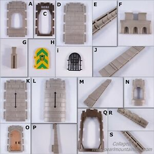 PLAYMOBIL VINTAGE 3666 KNIGHTS CASTLE WALL FLAT OPEN CONNECTOR ARCH GREY-CHOICE