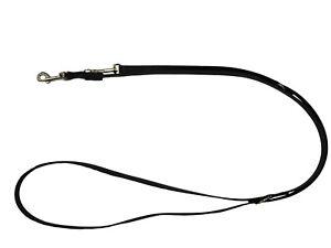elropet® Hundeleine schwarz BioThane® verstellb 2,40m 2,80m 3,50m vers Breiten