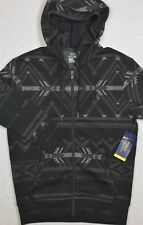 Polo Ralph Lauren Full Zip Gray/Black Aztec Performance Hoodie M Medium NWT $125