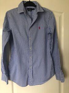 Ralph Lauren blue striped shirt size 6