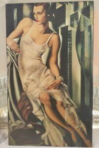 """Reproduction print portrait portrait-de-madame-allan-bott by Lempicka 24""""x40"""""""