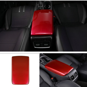For Honda Accord 2018-2021 Bright Red Central armrest storage box Cover Trim