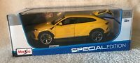 Lamborghini Urus - Maisto - 1/18 Diecast Model Car - Yellow Special Edition NIB