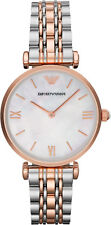 New Emporio Armani Classic Mother of Pearl Ladies Stainless Steel Watch AR1683