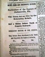 NEW MADRID MISSOURI Captured - Battle of Island No. 10 1862 Civil War Newspaper