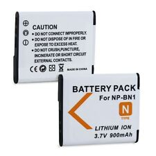 Fosmon 2 Pack Replacement Battery Pack for Sony NP-BN1 Lithium Ion Type N