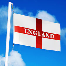 LARGE England Flag 5x3FT St George Cross Football Cricket Rugby Flags Eyelets