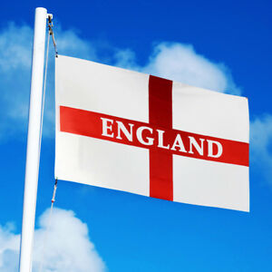 England Flag 5x3 FT St George Cross English Football Rugby Flags with Eyelets
