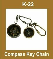 NEW COMPASS KEY RING KEYCHAIN KEY FOB KEY HOLDER NAUTICAL