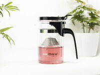 400ml 13fl.oz Kamjove Heat Resistant Clear Glass Tea Kettle Gongfu Teapot K-200