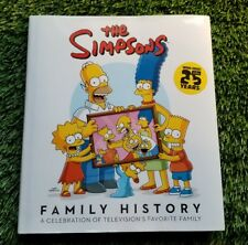 MATT GROENING SIGNED THE SIMPSONS FAMILY HISTORY BOOK MARGE SKETCH JSA/LOA